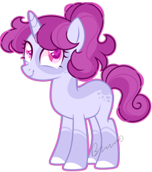 Size: 1782x2020 | Tagged: safe, artist:kurosawakuro, oc, pony, unicorn, female, magical lesbian spawn, mare, offspring, parent:posey shy, parent:twilight velvet, simple background, solo, transparent background
