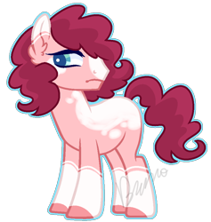 Size: 822x868 | Tagged: safe, artist:kurosawakuro, oc, earth pony, pony, magical lesbian spawn, male, offspring, parent:cookie crumbles, parent:pear butter, simple background, solo, stallion, transparent background