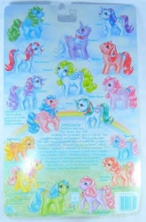Size: 486x738 | Tagged: safe, applejack (g1), bowtie (g1), cherries jubilee, firefly, glory, gusty, heart throb, lickety split, medley, moondancer (g1), posey, powder, skyflier, sparkler (g1), surprise, tootsie, pony, adoraprise, backcard, barcode, bow, cherries cuteilee, cute, dancerbetes, flyabetes, g1, glorybetes, gustybetes, heartthrobetes, implied bubbles, jackabetes, medleybetes, official, poseybetes, powderbetes, silly, silly pony, sparklerbetes, story, tail bow, tieabetes, tootsiebetes, who's a silly pony