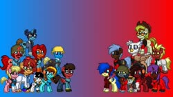 Size: 800x450 | Tagged: safe, artist:deepestclover80, oc, oc:aiding assistant, oc:any pony, oc:clover spell, oc:dr. wolf, oc:eliyora, oc:finn the pony, oc:firebrand, oc:goldenfox, oc:ilovekimpossiblealot, oc:ink rose, oc:jasper pie, oc:keyframe, oc:lightning bliss, oc:mad munchkin, oc:silver quill, oc:sweetie bloom, oc:thespio, oc:voice of reason, alicorn, earth pony, pegasus, pony, unicorn, analysis anarchy, photo, tf2 analysis anarchy