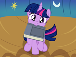 Size: 2400x1800 | Tagged: safe, artist:badumsquish, derpibooru exclusive, twilight sparkle, alicorn, pony, adorkable, badumsquish is trying to murder us, bed, begging, behaving like a dog, book, bookhorse, cute, dork, female, golden oaks library, head tilt, high angle, hnnng, looking at you, looking up, mare, mouth hold, nom, offscreen character, pov, puppy dog eyes, raised hoof, show accurate, sitting, smiling, solo, that pony sure does love books, twiabetes, twilight sparkle (alicorn), weapons-grade cute