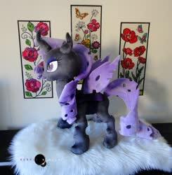 Size: 1280x1307   Tagged: safe, artist:purplenebulastudios, rarity, changeling, changelingified, irl, photo, plushie, purple changeling, rariling, solo, species swap