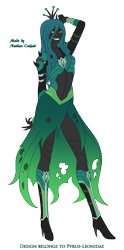 Size: 1665x3358 | Tagged: safe, artist:pyrus-leonidas, queen chrysalis, human, series:mortal kombat:defenders of equestria, bracer, clothes, corset, crossover, crown, dress, fangs, female, grin, high heels, humanized, jewelry, mortal kombat, part of a series, part of a set, pony coloring, regalia, shoes, simple background, smiling, solo, toothy grin, torn clothes, transparent background, video game crossover