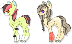 Size: 745x456 | Tagged: safe, artist:14th-crown, oc, oc only, earth pony, pony, base used, braid, chibi, duo, ear fluff, earth pony oc, prone, simple background, transparent background, unshorn fetlocks