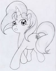 Size: 969x1217 | Tagged: safe, artist:steg-o, sunset shimmer, pony, unicorn, smiling, solo, traditional art