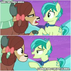 Size: 894x894 | Tagged: safe, edit, edited screencap, screencap, gladmane, sandbar, starlight glimmer, yona, earth pony, yak, she's all yak, op is a duck, op is trying to start shit, worst pony