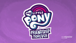 Size: 1280x720 | Tagged: safe, screencap, spoiler:mlp friendship is forever, 9now, adventure in the comments, derail in the comments, my little pony logo, nine network, pony history