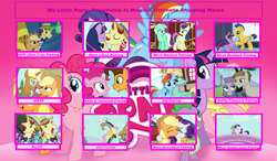 Size: 1024x599 | Tagged: safe, artist:purplewonderpower, applejack, bon bon, cheese sandwich, discord, flam, flash sentry, flim, fluttershy, lyra heartstrings, maud pie, mudbriar, pinkie pie, rainbow dash, rarity, spike, sweetie drops, trenderhoof, twilight sparkle, zephyr breeze, alicorn, cheesepie, female, flashlight, flim flam brothers, flimjack, lesbian, lyrabon, male, mane seven, mane six, maudbriar, op has an opinion, op is a duck, op is trying to start shit, rarijack, shipping, sparity, straight, trenderjack, twiflam, twilight sparkle (alicorn), zephdash