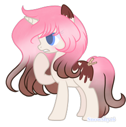 Size: 2000x2018   Tagged: safe, artist:milkteasour, artist:snowshy16, oc, oc only, food pony, original species, pony, unicorn, base used, female, food, ice cream pony, mare, ponified, simple background, solo, transparent background