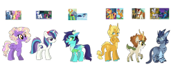 Size: 2200x852 | Tagged: safe, artist:unoriginai, idw, ahuizotl, autumn blaze, luster dawn, moondancer, night glider, shining armor, smolder, soarin', sunset shimmer, thorax, zecora, oc, centaur, changedling, changeling, changepony, deer, deer pony, dracony, dragon, hybrid, original species, pony, taur, amending fences, equestria girls, mirror magic, rainbow falls, the cutie map, the last problem, to where and back again, spoiler:comic, spoiler:eqg specials, crack shipping, cute, interspecies offspring, king thorax, magical gay spawn, magical lesbian spawn, offspring, older, older smolder, parent:ahuizotl, parent:autumn blaze, parent:luster dawn, parent:moondancer, parent:night glider, parent:shining armor, parent:smolder, parent:sunset shimmer, parent:thorax, parent:unknown, parent:zecora, shipping, simple background, transparent background