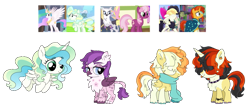 Size: 1281x553 | Tagged: safe, artist:unoriginai, cheerilee, natalya, princess celestia, songbird serenade, sunburst, vapor trail, oc, alicorn, griffon, hybrid, my little pony: the movie, chest fluff, crack shipping, cute, magical lesbian spawn, offspring, parent:cheerilee, parent:princess celestia, parent:songbird serenade, parent:sunburst, parent:vapor trail, screencap reference, shipping, simple background, transparent background, twins