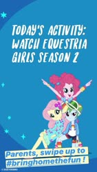 Size: 750x1333   Tagged: safe, fluttershy, pinkie pie, rainbow dash, equestria girls, equestria girls series, spoiler:eqg series (season 2), bringhomethefun, coronavirus, covid-19, instagram story, official, text