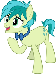 Size: 3000x3996   Tagged: safe, artist:cloudyglow, sandbar, she's all yak, .ai available, bowtie, one leg raised, open mouth, simple background, solo, transparent background, vector