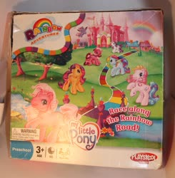 Size: 2019x2062 | Tagged: safe, photographer:kisscurl, cheerilee (g3), pinkie pie (g3), rainbow dash (g3), scootaloo (g3), starsong, sweetie belle (g3), toola roola, board game, celebration castle, cute, g3, g3 cheeribetes, g3 cutealoo, g3 dashabetes, g3 diapinkes, g3 diasweetes, merchandise, official, race along the rainbow road, roolabetes, starsawwwng