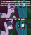 Size: 640x720 | Tagged: safe, edit, edited screencap, screencap, mean twilight sparkle, queen chrysalis, alicorn, changeling, changeling queen, the mean 6, austin powers, caption, clone, dialogue, female, former queen chrysalis, idiot, image macro, meme, skeptical, text