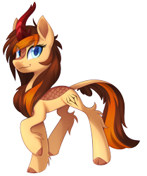 Size: 4176x5000 | Tagged: safe, artist:scarlet-spectrum, oc, oc only, oc:aerion featherquill, kirin, pony, cutie mark, female, kirin-ified, looking at you, mare, simple background, solo, species swap, transparent background