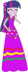 Size: 208x533 | Tagged: safe, artist:selenaede, artist:user15432, twilight sparkle, alicorn, human, equestria girls, base used, cinco de mayo, clothes, dress, flower, flower in hair, purple dress, twilight sparkle (alicorn)