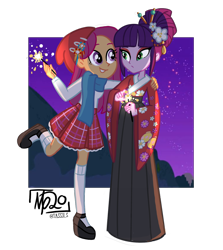 Size: 1352x1514 | Tagged: safe, artist:tassji-s, kimono, sparkleworks, equestria girls, clothes, equestria girls-ified, g3, g3 to equestria girls, generation leap, kimono (clothing), namesake, simple background, transparent background