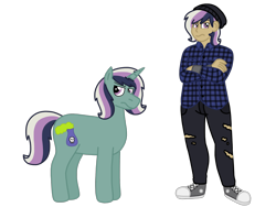 Size: 2048x1536 | Tagged: safe, artist:andy-hazards, artist:kindheart525, oc, oc only, oc:minstrel custard, unicorn, kindverse, equestria girls, converse, equestria girls-ified, magical lesbian spawn, offspring, parent:bon bon, parent:lyra heartstrings, parents:lyrabon, shoes, simple background, transparent background