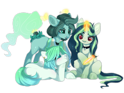 Size: 1600x1200 | Tagged: safe, artist:shady-bush, oc, oc only, oc:alli gator, oc:cassiopeia, earth pony, original species, pony, scented pony, unicorn, choker, magic, mirror, simple background, transparent background