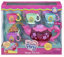 Size: 504x444 | Tagged: safe, photographer:absol, pinkie pie (g3), rainbow dash (g3), cup, g3, merchandise, official, packaging, photo, tea set, teacup, teapot