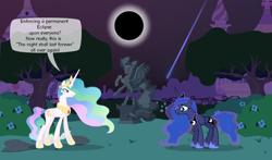 Size: 800x470 | Tagged: safe, artist:90sigma, artist:malte279, artist:mihaaaa, artist:smhungary, princess celestia, princess luna, alicorn, pony, comic, deviantart eclipse, eclipse