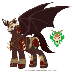 Size: 2266x2194   Tagged: safe, artist:pyrus-leonidas, alicorn, pony, series:mortal kombat:defenders of equestria, armor, clothes, crossover, male, mortal kombat, ponified, shao kahn, simple background, stallion, transparent background