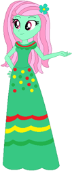 Size: 232x547 | Tagged: safe, artist:selenaede, artist:user15432, minty, human, equestria girls, base used, cinco de mayo, clothes, dress, equestria girls style, equestria girls-ified, flower, flower in hair, g3, g3 to equestria girls, g3 to g4, g4, generation leap, green dress
