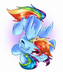 Size: 2100x2400 | Tagged: safe, artist:etoz, rainbow dash, pegasus, pony, cute, dashabetes, ear fluff, eye clipping through hair, eyebrows visible through hair, female, high res, mare, simple background, smiling, solo, white background