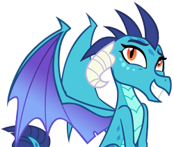Size: 6739x5676 | Tagged: safe, artist:andoanimalia, princess ember, dragon, triple threat, absurd resolution, cute, dragoness, dragonlord, emberbetes, female, grin, horns, simple background, smiling, solo, transparent background, vector