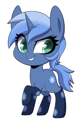 Size: 2400x3600 | Tagged: safe, artist:sakukitty, oc, oc only, oc:paamayim nekudotayim, pony, unicorn, chibi, clothes, dreamworks face, raised hoof, simple background, smiling, smirk, socks, solo, transparent background