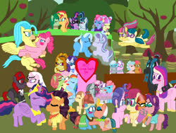 Size: 4032x3024 | Tagged: safe, artist:bigpurplemuppet99, adagio dazzle, babs seed, cheerilee, cookie crumbles, cozy glow, cup cake, diamond tiara, fluttershy, juniper montage, kiwi lollipop, marble pie, meadowbrook, pinkie pie, posey shy, princess cadance, princess skystar, queen chrysalis, rainbow dash, rarity, saffron masala, sci-twi, silver spoon, somnambula, sonata dusk, sour sweet, spoiled rich, starlight glimmer, stellar flare, sunset shimmer, supernova zap, tree hugger, trixie, twilight sparkle, twilight velvet, wallflower blush, windy whistles, oc, oc:cream heart, oc:curse word, oc:magpie, alicorn, pony, my little pony: the movie, the last problem, adagity, babsglow, blushing, cadalis, cookieshy, female, flower, flutterdash, flutterhugger, holding hooves, infidelity, junipersweet, k-lo, kissing, kiwinova, lesbian, lesbian visibility day, magpiepony, marbilee, oc x oc, polyamory, ponified, postcrush, princess twilight 2.0, sci-twinata, shipping, silvertiara, skypie, somnambrook, spoiledflare, startrix, su-z, sunflower, thelostnarrator, twicake, twiffron, twilight sparkle (alicorn), twinata, velvet cake, wallset, windyheart