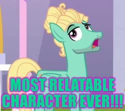 Size: 711x630 | Tagged: safe, edit, edited screencap, screencap, zephyr breeze, pegasus, pony, sparkle's seven, best pony, caption, cropped, excessive exclamation marks, image macro, male, op has a point, raised hoof, relatable, solo, text, wings