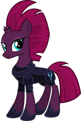 Size: 4000x5978 | Tagged: safe, alternate version, artist:melisareb, fizzlepop berrytwist, tempest shadow, pony, unicorn, my little pony: the movie, .svg available, absurd resolution, armor, clothes, female, inkscape, looking at you, mare, show accurate, simple background, solo, transparent background, vector