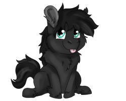 Size: 2500x2000 | Tagged: safe, artist:euspuche, oc, oc only, oc:onyx, colt, looking at you, male, simple background, smiling, tongue out, transparent background