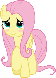 Size: 7287x10000 | Tagged: safe, artist:brotaraft, fluttershy, pegasus, pony, the beginning of the end, .ai available, .svg available, absurd resolution, blushing, cute, female, raised hoof, shyabetes, simple background, smiling, solo, transparent background, vector