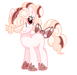 Size: 1030x1004   Tagged: safe, artist:anno酱w, oc, oc only, earth pony, food pony, original species, pony, base used, food, ponified, simple background, smiling, solo, white background