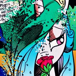 Size: 357x357   Tagged: safe, idw, princess celestia, alicorn, reflections, spoiler:comic, flower, rose, thanos snap