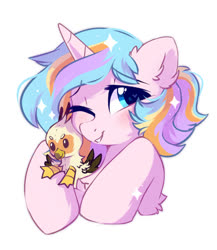 Size: 667x768   Tagged: safe, artist:mirtash, oc, oc only, oc:oofy colorful, oc:vistamage, griffon, pony, unicorn, plushie, solo