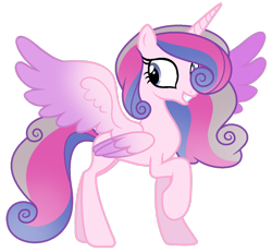 Size: 1024x947 | Tagged: safe, artist:lymamynsay11, princess cadance, princess flurry heart, alicorn, pony, seraph, seraphicorn, fusion, multiple wings, simple background, solo, transparent background