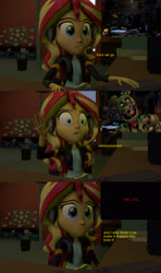 Size: 1920x3240 | Tagged: safe, artist:fazbearsparkle, sunset shimmer, equestria girls, equestria girls series, 3d, comic, dialogue, five nights at freddy's, game over, jumpscare, pc, source filmmaker, springtrap, sunset gamer, sunset's apartment, ultimate custom night