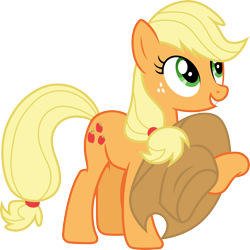 Size: 3000x3004 | Tagged: safe, artist:cloudyglow, artist:yanoda, applejack, earth pony, pony, the saddle row review, .ai available, apologetic, cowboy hat, cute, female, freckles, hat, high res, jackabetes, mare, simple background, smiling, solo, stetson, transparent background, vector