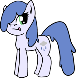 Size: 1274x1303 | Tagged: safe, artist:poniidesu, oc, oc only, oc:raincloud drops, pegasus, pony, hair over one eye, pegasus oc, simple background, solo, transparent background, wings