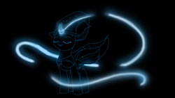 Size: 1920x1080 | Tagged: safe, artist:astralr, trixie, pony, unicorn, cape, clothes, female, hat, magic, mare, solo, trixie's cape, trixie's hat