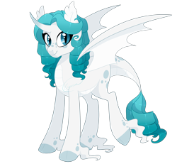 Size: 2700x2500 | Tagged: safe, artist:gigason, oc, dracony, dragon, hybrid, pony, female, high res, interspecies offspring, offspring, parent:rarity, parent:spike, parents:sparity, simple background, solo, transparent background