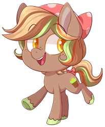 Size: 2046x2485 | Tagged: safe, artist:cloubi, oc, oc:sunny sprout, earth pony, pony, chibi, female, mare, part of a set, simple background, solo, transparent background, ych result