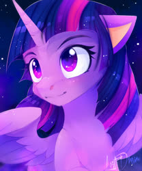 Size: 1000x1200 | Tagged: safe, artist:lostdreamm, twilight sparkle, alicorn, pony, female, mare, night, solo, twilight sparkle (alicorn)
