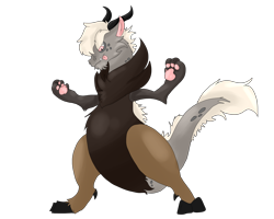 Size: 2500x2000   Tagged: safe, artist:euspuche, oc, oc only, oc:jengibre, draconequus, draconequus oc, looking down, male, tongue out