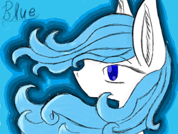 Size: 8000x6000 | Tagged: safe, artist:prismicdiamondart, oc, oc only, oc:blue, earth pony, pony, bust, earth pony oc, female, mare