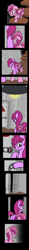 Size: 1800x15328 | Tagged: safe, artist:dinkyuniverse, berry punch, berryshine, ruby pinch, earth pony, pony, unicorn, comic:wine essence, basement, comic, crawling, daughter, door, family, female, filly, foal, hallway, mother and child, mother and daughter, sad, scared, shaking, stairs, stare, worry